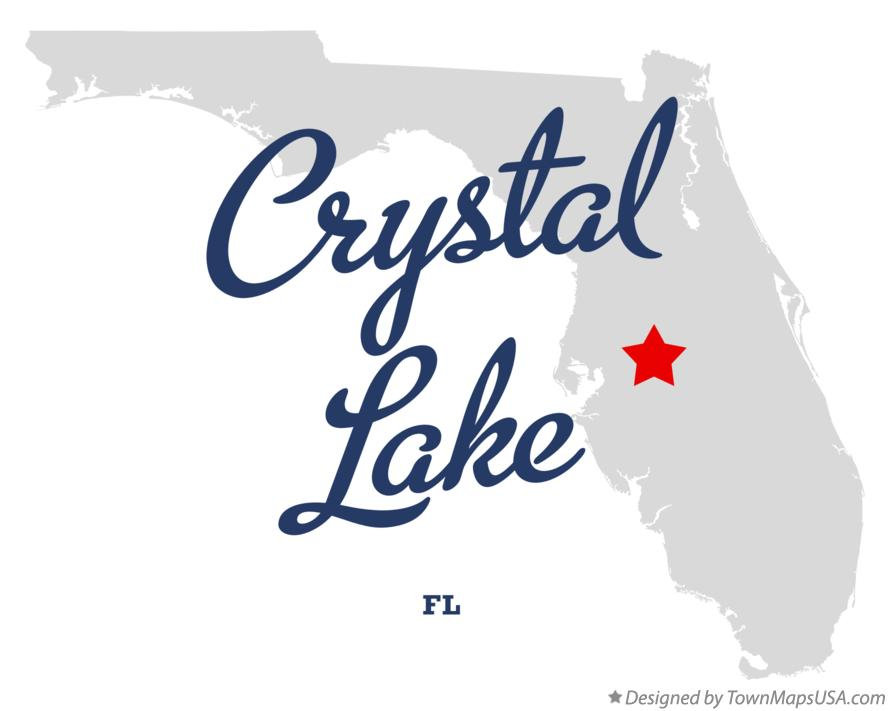 Map of Crystal Lake Florida FL