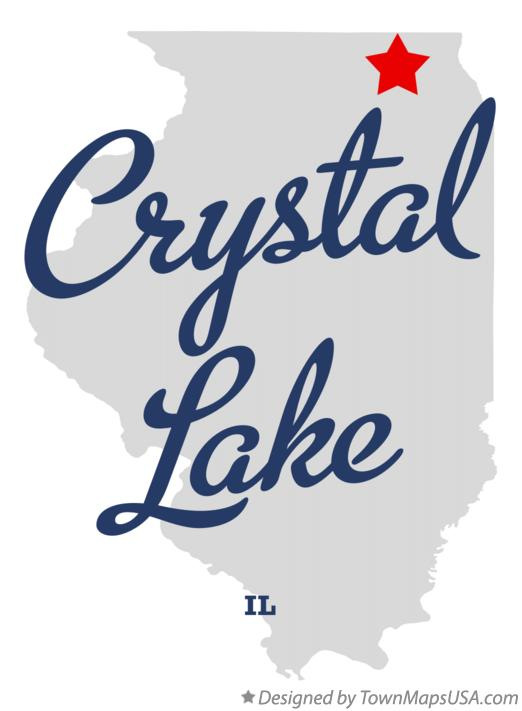 Crystal Lake Illinois Map.Map Of Crystal Lake Il Illinois