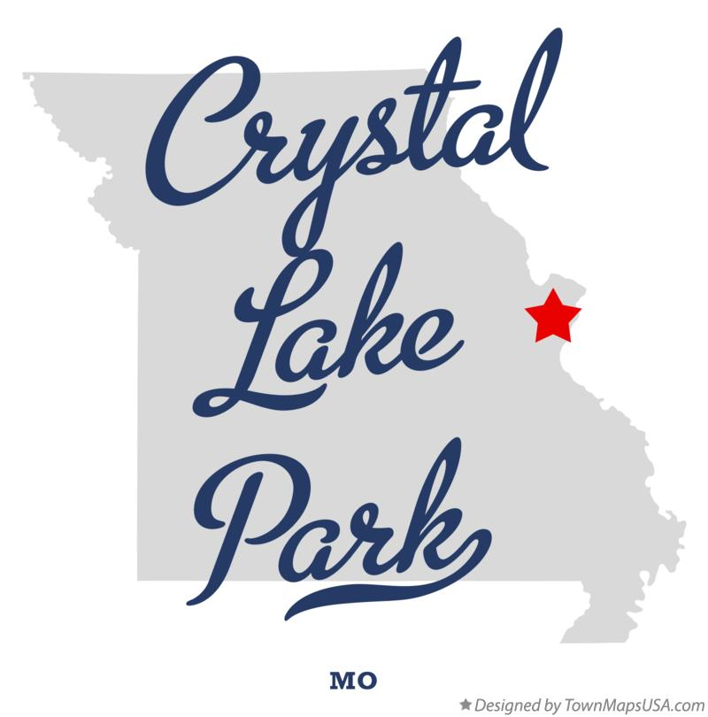 Map of Crystal Lake Park Missouri MO