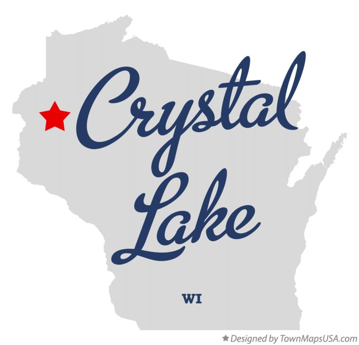 Map of Crystal Lake Wisconsin WI