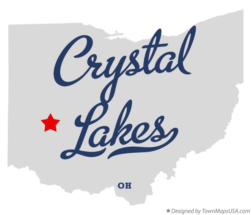 Map of Crystal Lakes Ohio OH