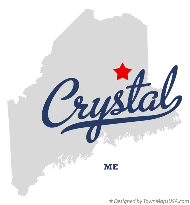 Map of Crystal Maine ME