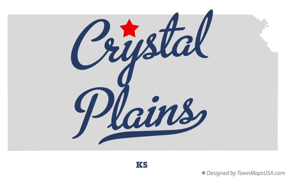 Map of Crystal Plains Kansas KS