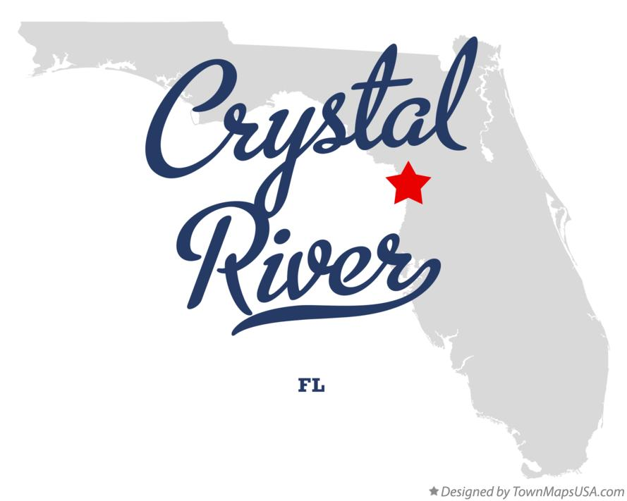 Map of Crystal River Florida FL