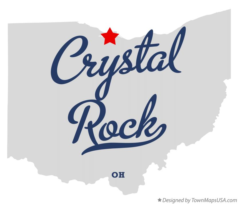 Map of Crystal Rock Ohio OH