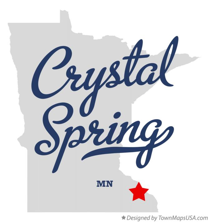 Map of Crystal Spring Minnesota MN