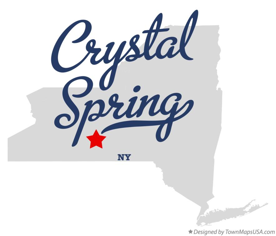 Map of Crystal Spring New York NY