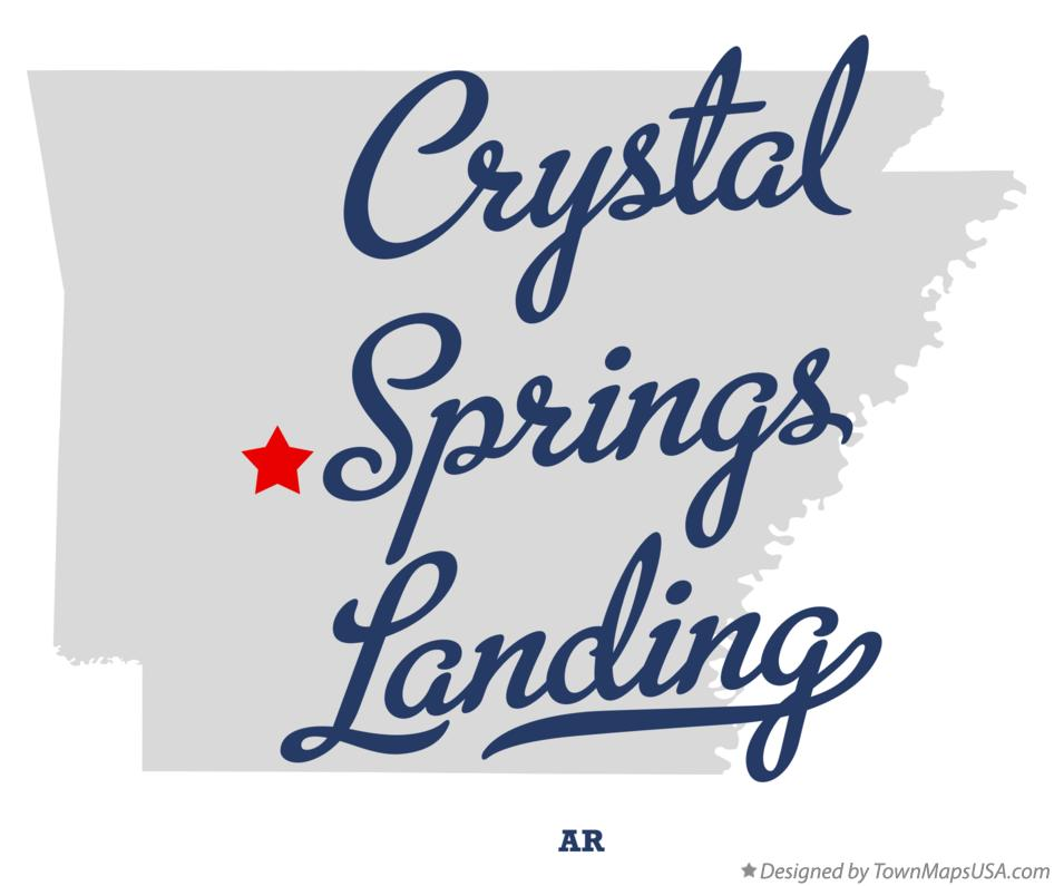 Map of Crystal Springs Landing Arkansas AR