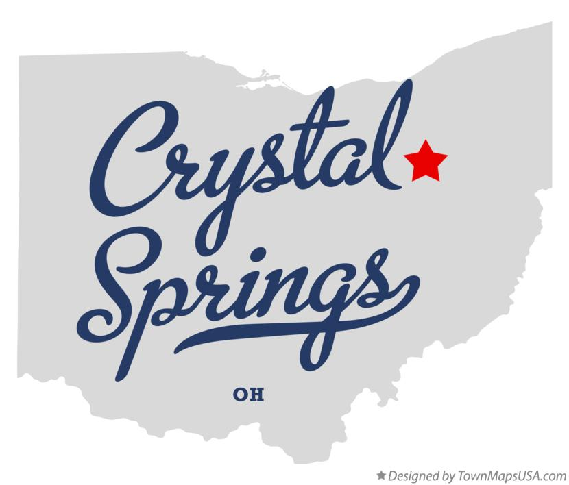 Map of Crystal Springs Ohio OH
