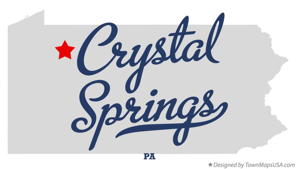 Map of Crystal Springs Pennsylvania PA