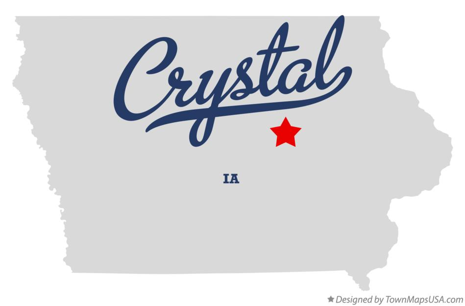 Map of Crystal Iowa IA