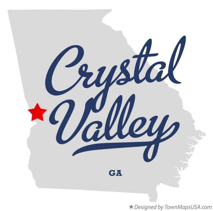 Map of Crystal Valley Georgia GA