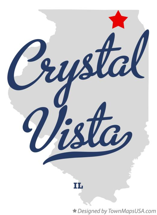 Map of Crystal Vista Illinois IL