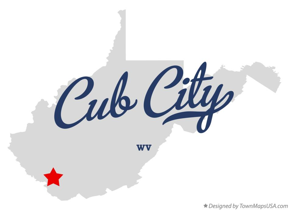 Map of Cub City West Virginia WV