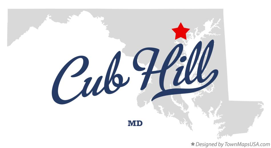 Map of Cub Hill Maryland MD