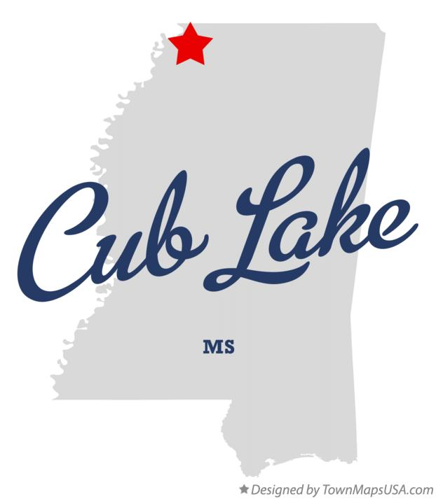 Map of Cub Lake Mississippi MS