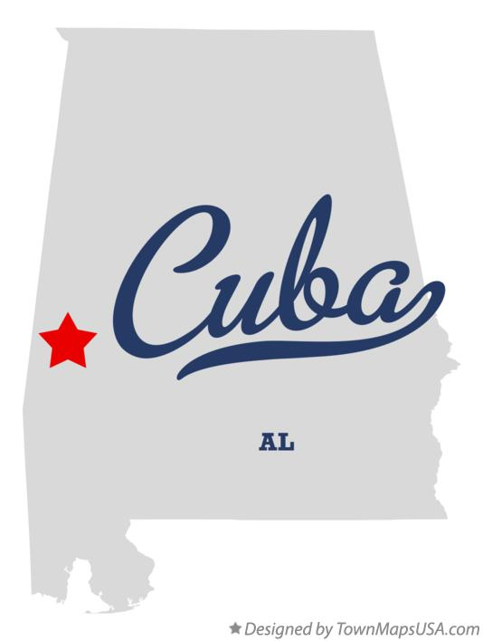 Map of Cuba Alabama AL