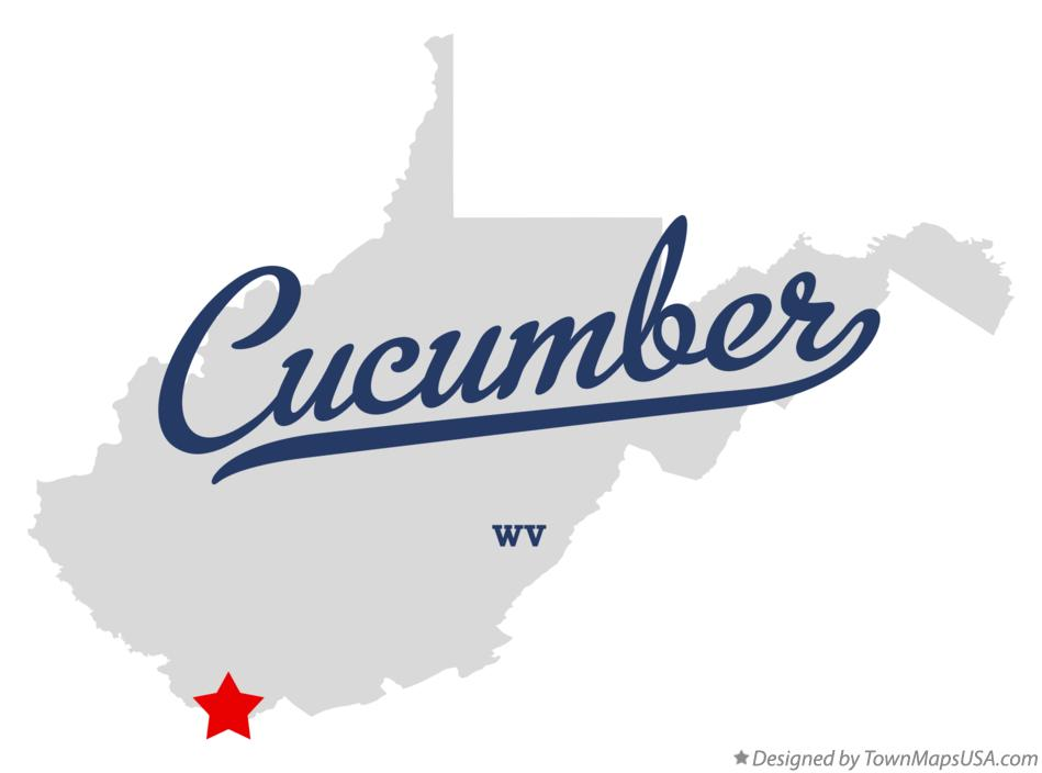 Map of Cucumber West Virginia WV