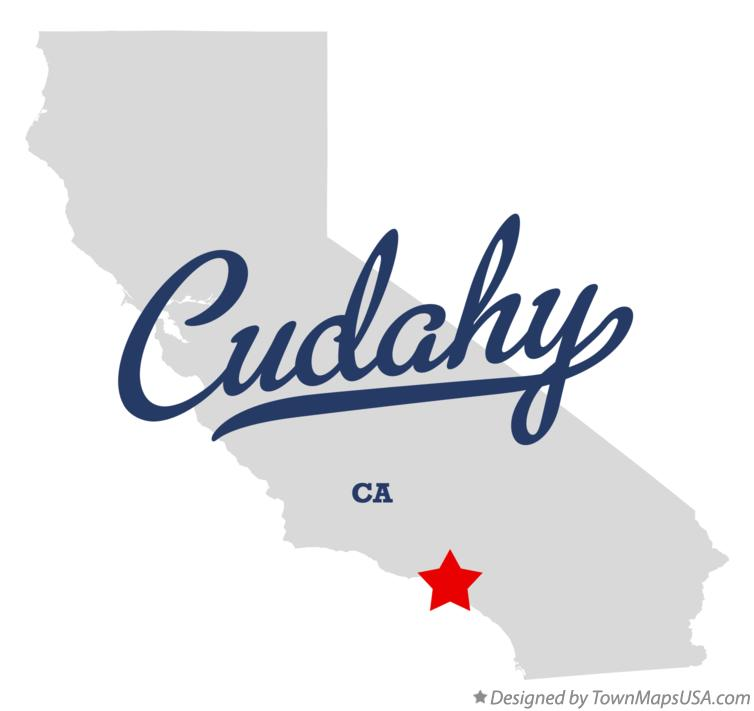 Map of Cudahy California CA