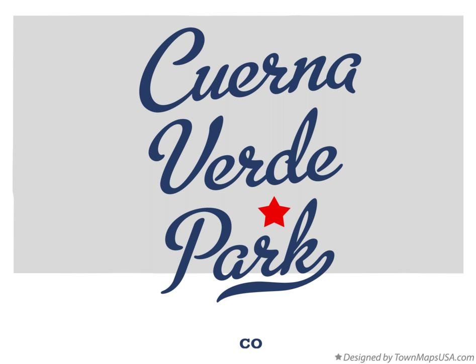 Map of Cuerna Verde Park Colorado CO