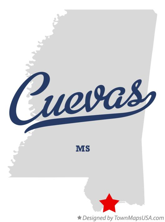 Map of Cuevas Mississippi MS