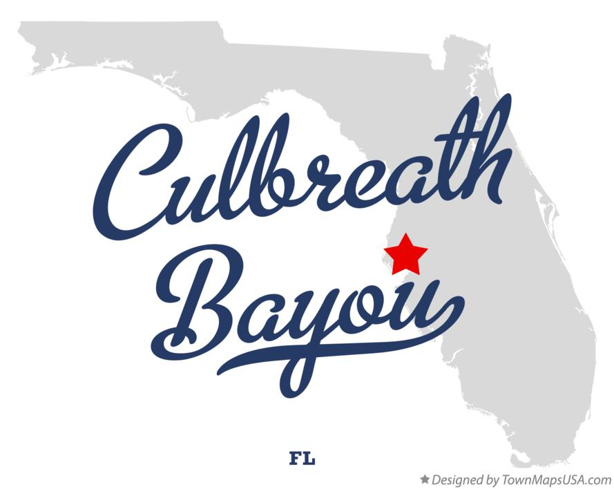 Map of Culbreath Bayou Florida FL