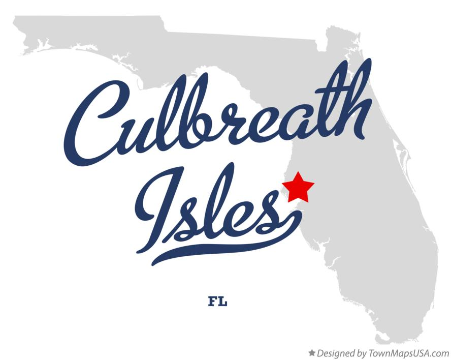 Map of Culbreath Isles Florida FL