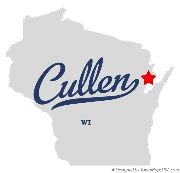 Map of Cullen Wisconsin WI