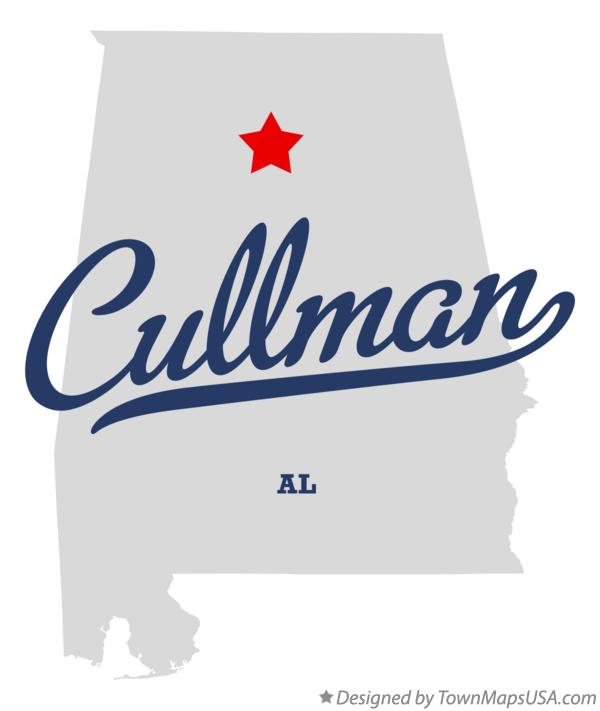Map of Cullman, AL, Alabama