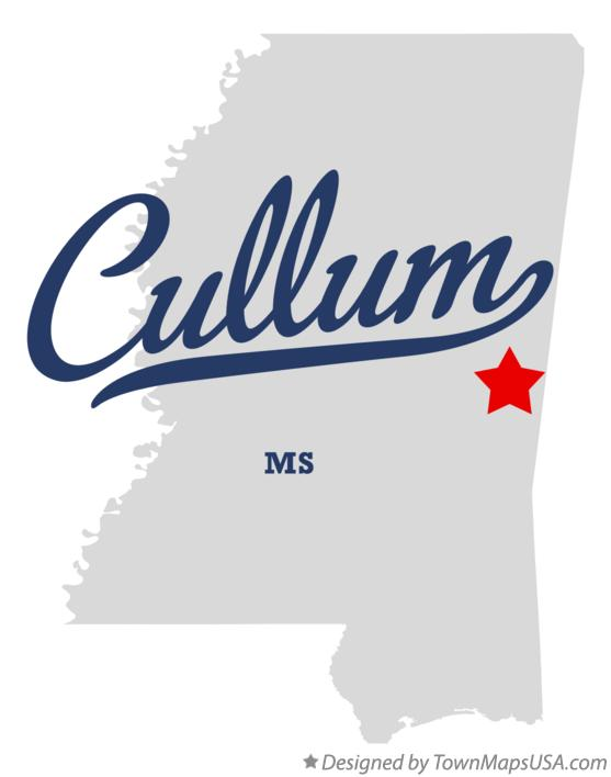 Map of Cullum Mississippi MS