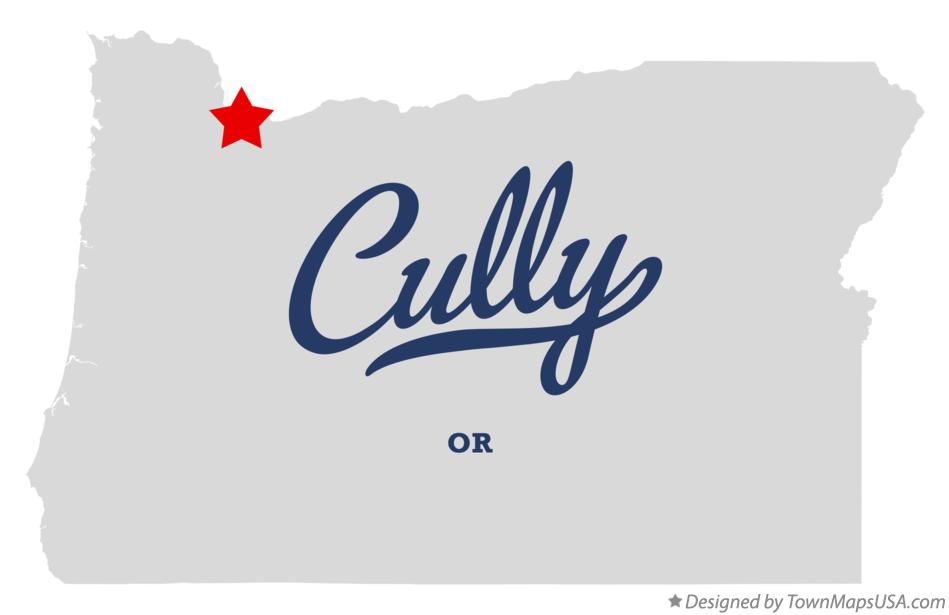 Map of Cully Oregon OR