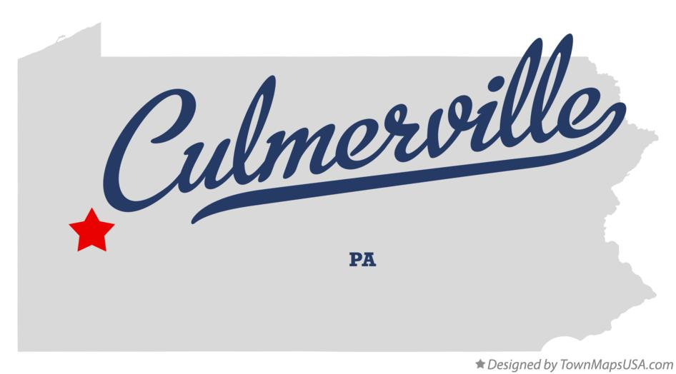 Map of Culmerville Pennsylvania PA