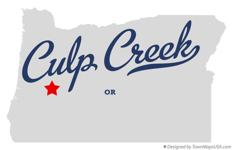 Map of Culp Creek Oregon OR