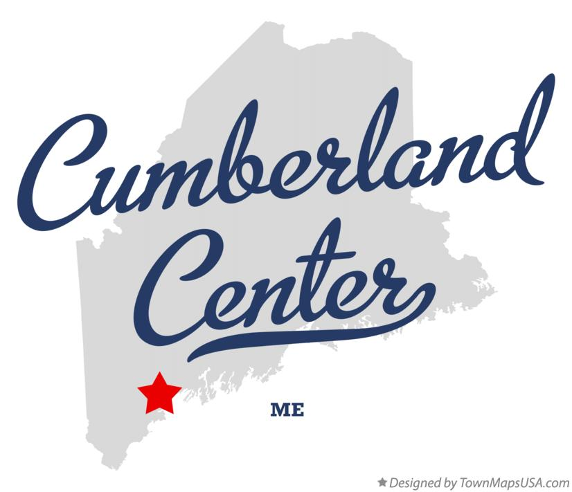 Map of Cumberland Center Maine ME
