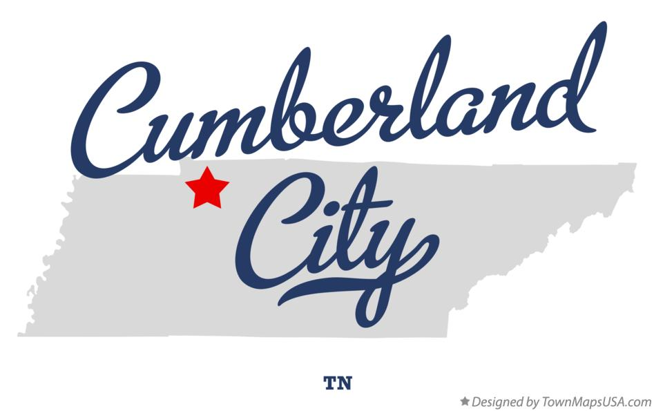 Map of Cumberland City Tennessee TN