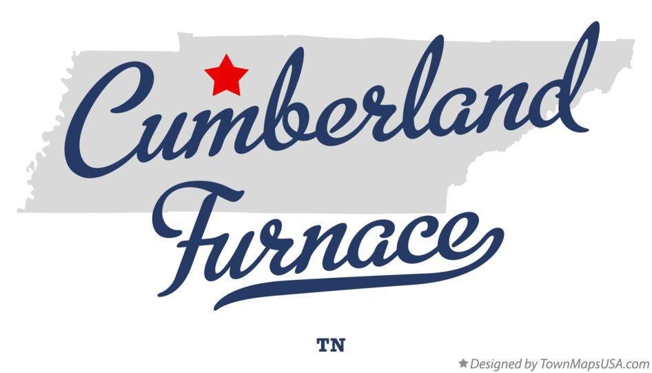 Map of Cumberland Furnace Tennessee TN