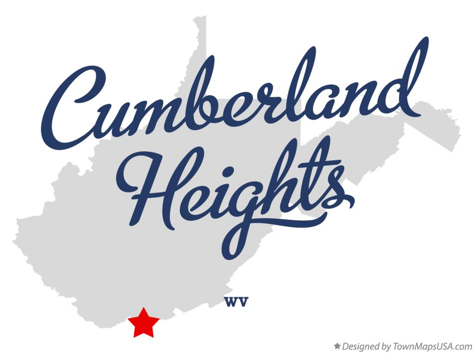 Map of Cumberland Heights West Virginia WV