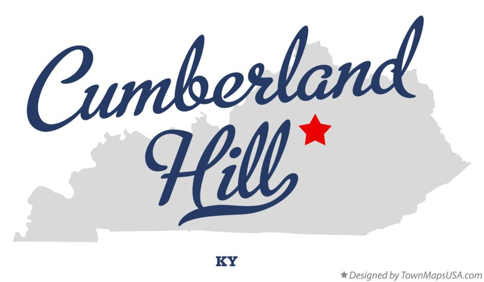 Map of Cumberland Hill Kentucky KY