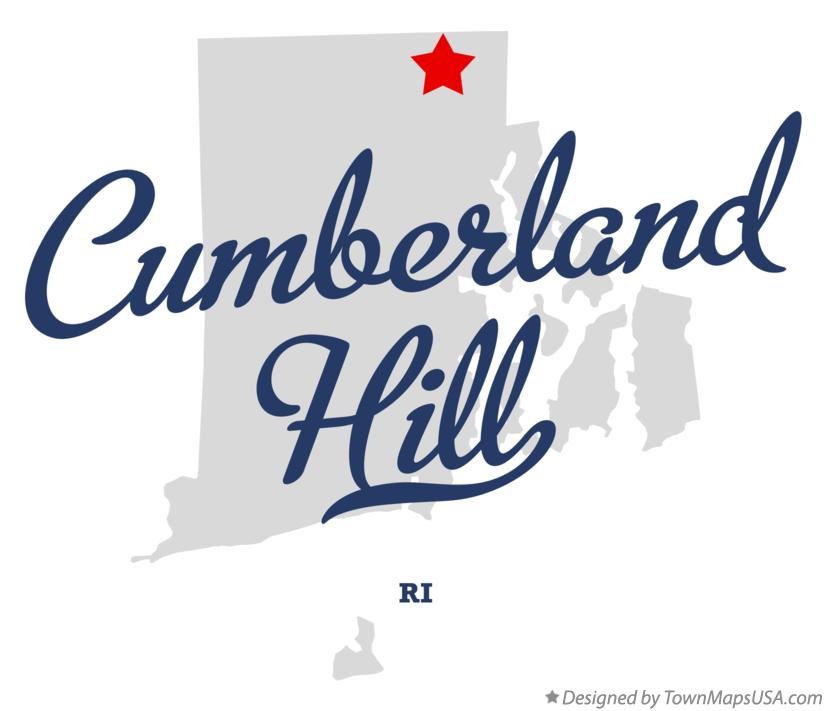 Map of Cumberland Hill Rhode Island RI