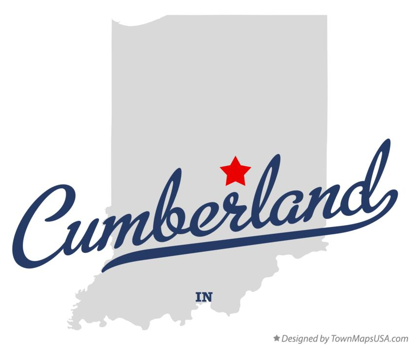 Map of Cumberland Indiana IN