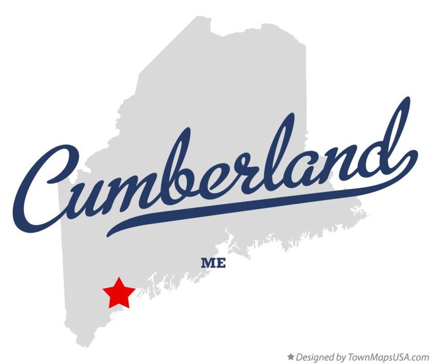 Map of Cumberland Maine ME