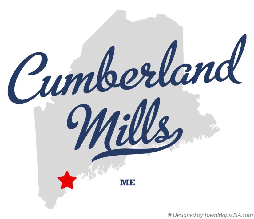 Map of Cumberland Mills Maine ME