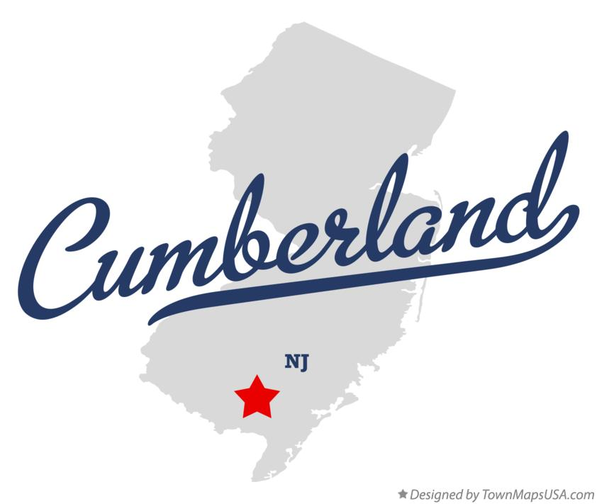 Map of Cumberland New Jersey NJ