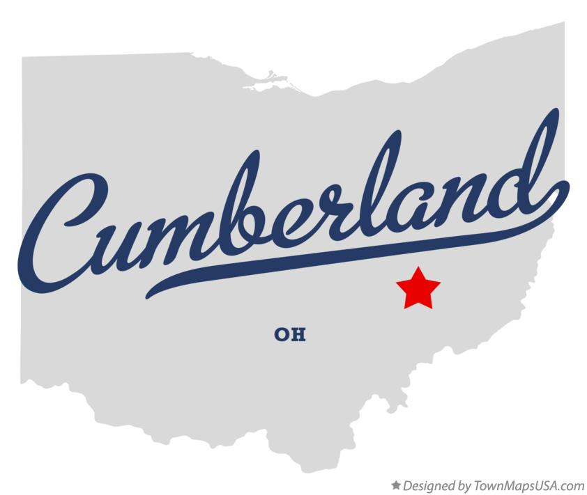 Map of Cumberland Ohio OH