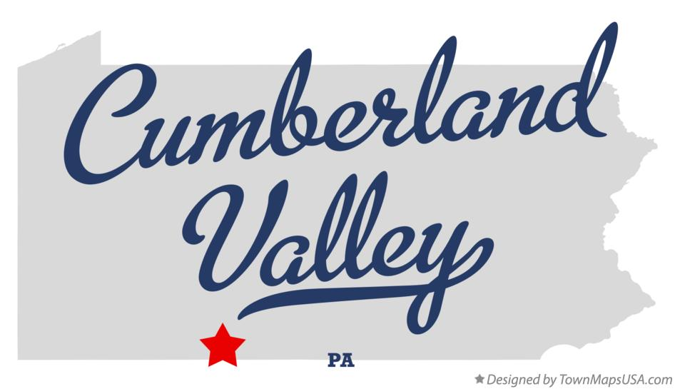 Map of Cumberland Valley Pennsylvania PA