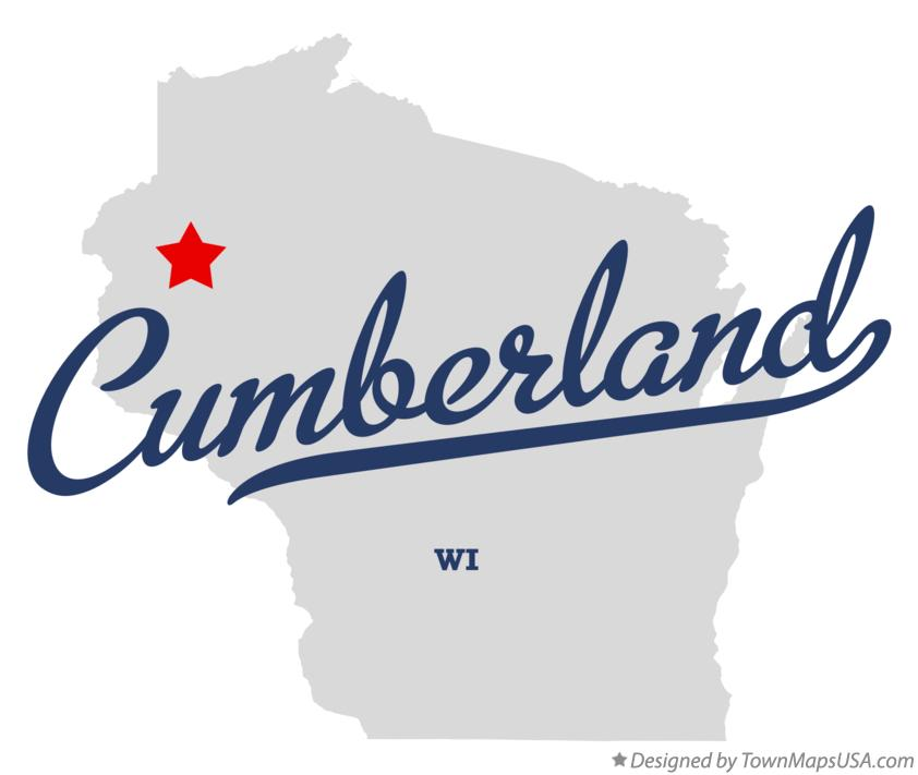 Map of Cumberland Wisconsin WI