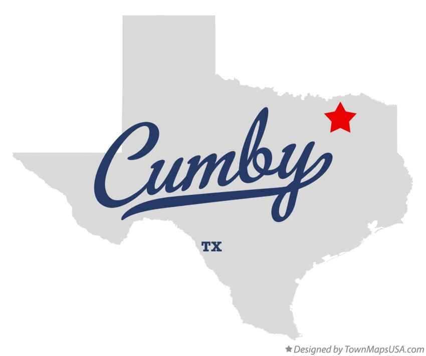 Map of Cumby Texas TX