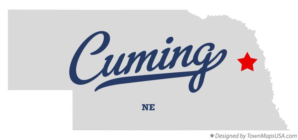 Map of Cuming Nebraska NE