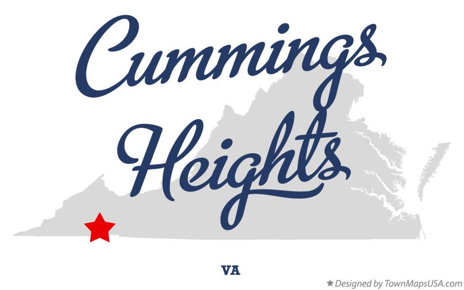 Map of Cummings Heights Virginia VA