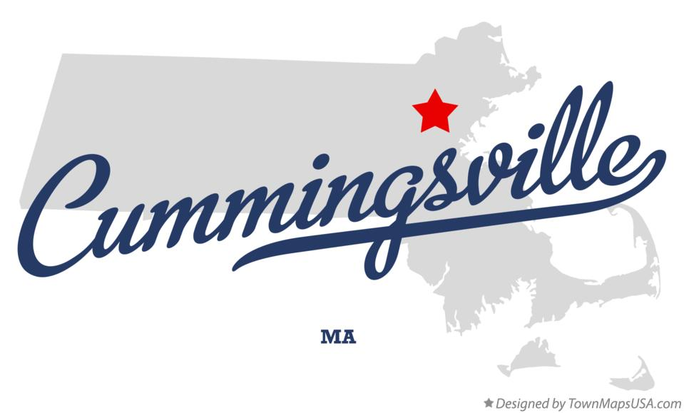 Map of Cummingsville Massachusetts MA